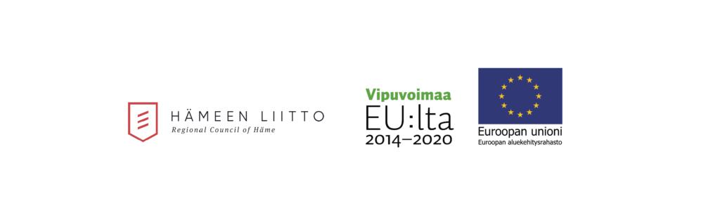 rahoittajien Hämeen liitto, vipuvoimaa ja eu rakennerahasto-logot